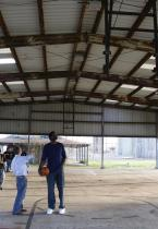 Greg Oden at basketball court in New Orleans to be refurbished 2.jpg