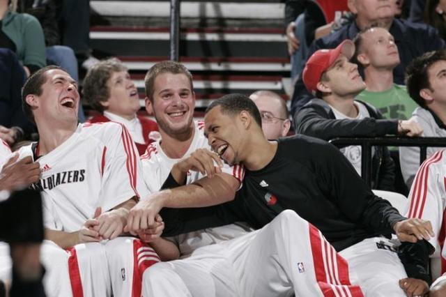Blazers Bench have a big laugh.jpg