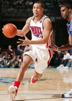 Brandon Roy drives past Jamison during All Star Game 2008.jpg