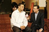 Brandon Roy is interviewed by a NBA TV reporter.jpg