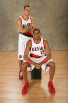 Brandon Roy and LaMarcus Aldrige poses for a picture during All Star Game 2008 festivities.jpg