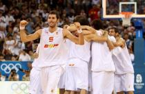 Rudy Fernandez celebrates a team Spain win.jpg