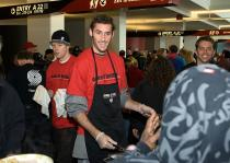 Rudy Fernandez helps out at the Harvest Dinner.jpg