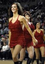 Blazers Dancers in red layered straw dress 2.jpg