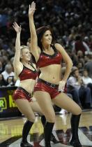 Blazers Dancers in red top and shorts dancing.jpg