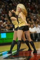 Blonde Blazers Dancer in black shorts and boots.jpg