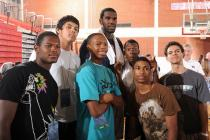 Greg Oden and fans at the Team USA mini camp.jpg