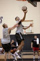 Brandon Roy goes in for a layup during camp.JPG