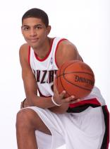 Nicholas Batum poses with the basketball in 2009.JPG