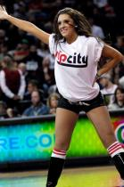 Blazer Dancer in Rip City shirt and black boots performing.JPG