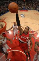 LaMarcus Aldridge goes up for the dunk inside against the Clippers.JPG